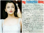 Aishwarya Rai Bachchan Old Slam Book Messages Writes About Love