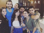 Jamai Raja Shiny Doshi Parties With Friends Ravi Sargun Karan Pics