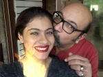 Mickey Contractor Kisses Kajol On The Cheeks On His Birthday