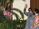 Candid Picture Abhishek Bachchan Aishwarya Rai Amitabh 74 Birthday