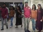 Dileep Kavya Madhavan And Meenakshi Dileep At The Airport