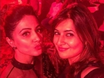 Divyanka Tripathi Poses With Hina Khan Event Two Beauties In One Frame