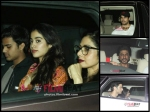 Jhanvi Kapoor With Her Boyfriend At Dear Zindagi Screening Pictures