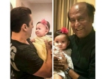 Little Baby Cires In Salman Khans Arm And Prefers Rajinikanth Instead