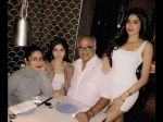 Jhanvi Kapoor Looks Hot At Daddy Boney Kapoor Birthday Dinner Pictures