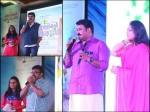 Mohanlal And Others At Munthirivallikal Thalirkkumbol Audio Launch Event