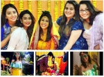 Kishwer Merchant Enjoys Haldi Mehndi Events Her Girl Gang Sukishkishaadi Pics