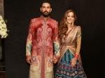 Yuvraj Singh And Hazel Keech Wedding Reception Pictures In New Delhi
