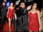Deepika Padukone Ranveer Singh Walk Hand In Hand Post Xxx Special Screening Party Pictures