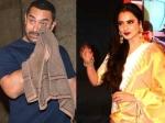 Rekha Left Aamir Khan In Tears Dangal Success Party