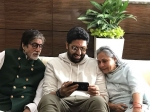 Abhishek Bachchan Poses With Jaya Bachchan Amitabh Bachchan An Inside Picture From Jalsa