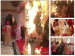 Breaking Fire On Beyhadh Sets Kushal Tandon Saves Jennifer Winget Pics Video
