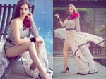 Hot Pictures Of Evelyn Sharma By The Pool Showing Off Her Legs