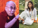 Lisa Ray Meets Buddhist Leader His Holiness Dalai Lama In Delhi