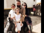 Sanjay Dutt Takes Scooter Ride With Wife Maanayata And Kids In Agra Picture