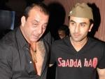 First Glimpse Of Ranbir Kapoor As Sanjay Dutt Paresh Rawal As Sunil Dutt From The Sets