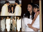 Aaradhya Bachchan Spotted At Aishwarya Rai Bachchan Father Prayer Meet See Pictures