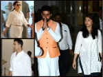 Aishwarya Rai Abhishek Bachchan Akshay Kajol Spotted At Suniel Shetty Father S Prayer Meet Pictures
