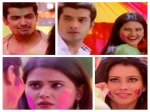 Kasam Rishi And Tanujas Cute Romance During Holi Celebrations