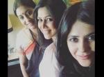 Ekta Kapoor Spotted With Her Favourite Bahus Smriti Irani Sakshi Tanwar Alt Balaji Web Series