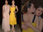 Kangana Ranaut Hugs And Kisses Priyanka Chopra View Pictures