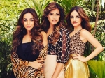 One Frame And Three Beauties Malaika Arora Sussanne Khan And Bipasha Basu Pose Together