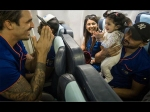 Virat Kohli And Mitchell Johnson Play With Geeta Basra And Harbhajan Singh Daughter Hinaya