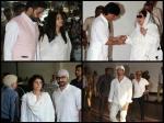 Aishwarya Rai Abhishek Bachchan Shahrukh Aamir Hrithik Spotted At Vinod Khanna Prayer Meet Pictures