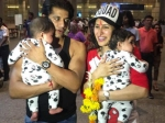 Karanvir Bohra Lands In India With His Wife Twins Shares An Adorable Picture