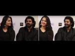 Anushka Shetty Unable To Hide Feelings Reaction When Prabhas Spoke In Hindi Baahubali 2 Promotions