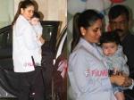 Kareena Kapoor Makes Taimur Wave At The Media At Tusshar Kapoors Son Lakshay Birthday