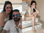 Sanjay Dutt And Maanayata Dutt Holiday By The French Riverside