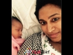 Pictures Of Shwetha Srivatsav With Her Daughter