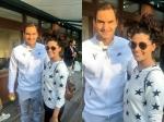 Saiyami Kher Meets Tennis Star Roger Federer At The Wimbledon