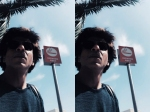 Shahrukh Khan Visits The Smoking Area In Los Angeles