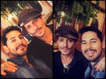 Dino Morea Meets Johnny Depp See Their Latest Pictures From London