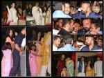 Aishwarya Rai Bachchan Karisma Kapoor Salman Khan Sanjay Dutt Spotted At Ambani Ganesh Bash Pictures