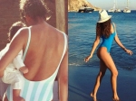Lisa Haydon Finally Hits The Beach Wearing A Blue Swimsuit
