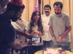 Fahadh Faasil Celebrates Birthday With Wife Nazriya Nazim Trance Pictures