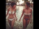 Shibani Dandekar Saba Azad Flaunt Their Bikini Bodies