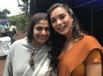Priya Sudeep Visits Her Husband On The Sets Of The Villain