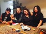 Hrithik Roshan Meets Karan Johar At Farhan Akhtar House