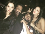 Sunny Leone Evelyn Sharma Party Together