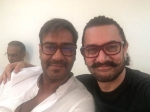This Photo Of Ajay Devgn And Aamir Khan Hanging Out Together Will Take You Back To Ishq Days