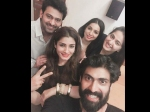 Prabhas Anushka Shetty Caught On Camera Spotted Partying Together With Raveena Tandon See Picture