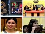 Bb 11 Salman Warns Bandgi Puneesh Arshi Kicks Hina Vidya Balan Promotes Tumhari Sulu More