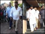 Rohit Shetty Abhishek Bachchan Attend Neeraj Vora Funeral
