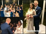 Just Married Aashka Goradia Brent Goble Look Like Dream Couple See Their First Wedding Picture