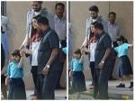 Aishwarya Rai Bachchan Abhishek Bachchan Pick Aaradhya From School Pictures