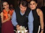 Randhir Kapoor Birthday Party Kareena Karisma Kapoor